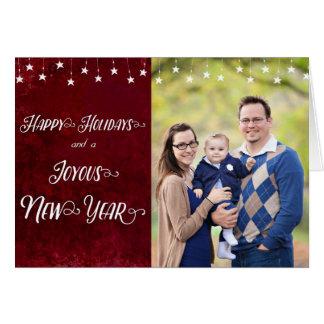 Happy Holidays / Joyous New Year Photo Card