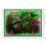 Happy Holidays Jungle style 001 Greeting Card