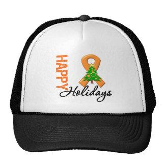 Happy Holidays Kidney Cancer Awareness Trucker Hat