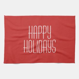 Happy Holidays Kitchen Towel