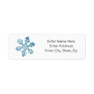 Happy Holidays Label #7 Return Address Label