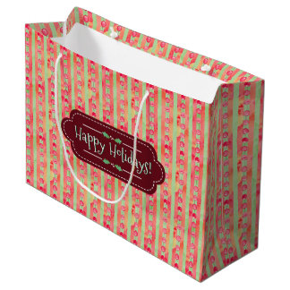 Happy Holidays Large Gift Bag