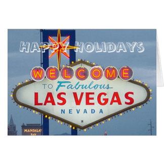Happy Holidays Las Vegas Card
