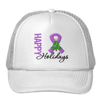 Happy Holidays Leiomyosarcoma Cancer Awareness Hat