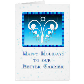 Happy Holidays Letter Carrier Greeting Card