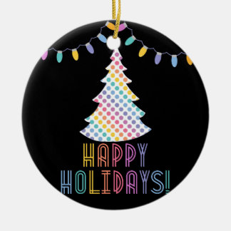 Happy Holidays LLR Lularoe inspired Ceramic Ornament