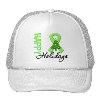 Happy Holidays Lymphoma Awareness Trucker Hat