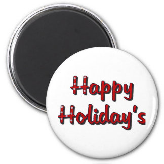 Happy Holiday's Magnet