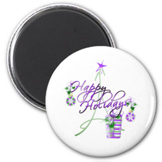Happy Holidays Refrigerator Magnets