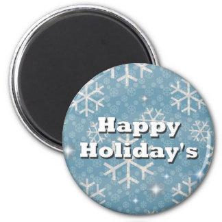 Happy Holiday's Fridge Magnet