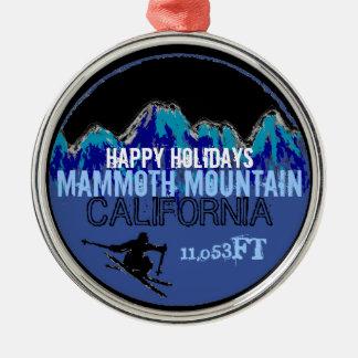 Happy Holidays Mammoth Mountain CA ornament