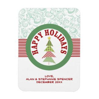 Happy Holidays Medallion Magnet