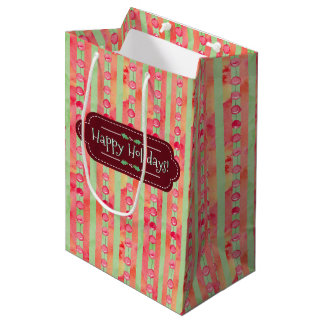 Happy Holidays Medium Gift Bag