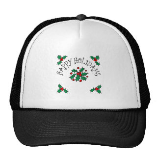 Happy Holidays Mesh Hats