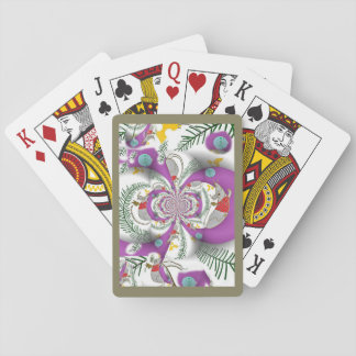 Happy Holidays Mouse in  House Kaleidoscope Playing Cards