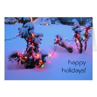 Happy Holidays Neighbor Lights Card