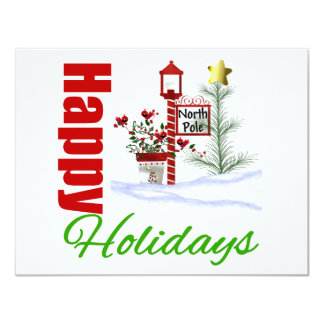 Happy Holidays North Pole Personalized Announcement