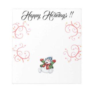 Happy Holidays Note Pad