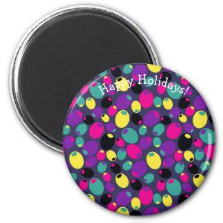 "Happy holidays ""olive"" magnet"