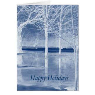 Happy Holidays on Ice Greeting Card