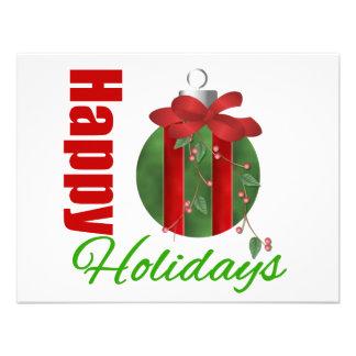 Happy Holidays Ornament Bulb Announcement