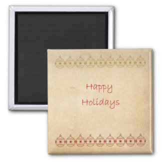 Happy Holidays Ornament Christmas Magnet