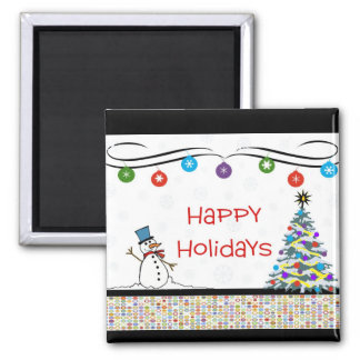 Happy Holidays Ornaments Magnet