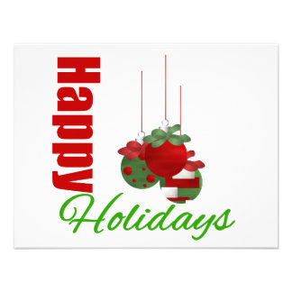 Happy Holidays Ornaments Trio Invitation