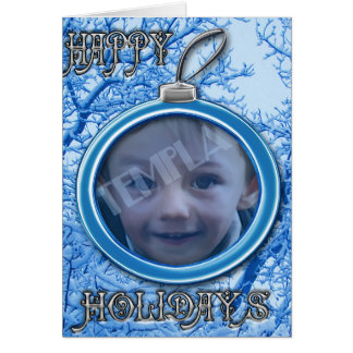 Happy holidays ornement greeting card