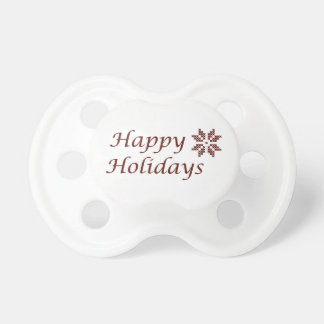 Happy Holidays Pacifier