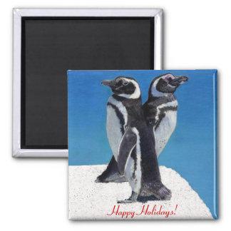 Happy Holidays Penguin Fridge Magnets