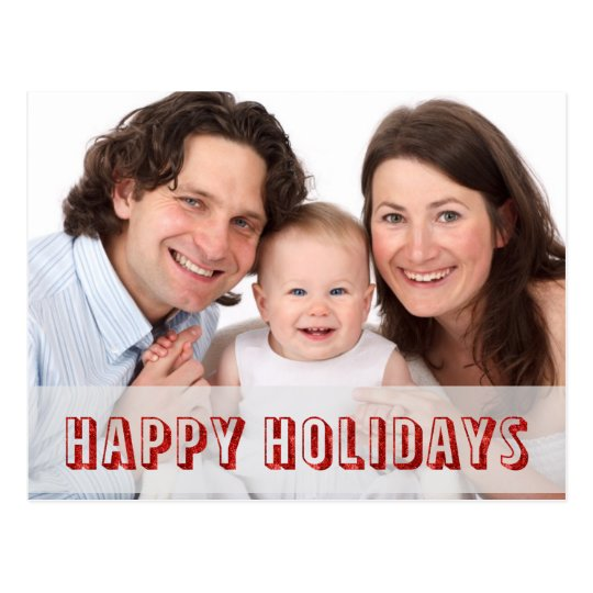 Happy Holidays Personalised Postcard