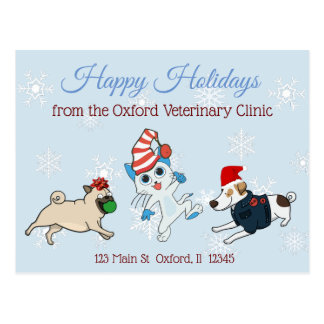 Happy Holidays Pet Business Christmas Cards