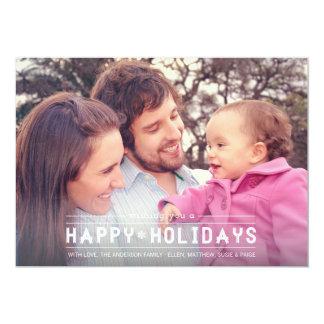 Happy Holidays Photo Card 13 Cm X 18 Cm Invitation Card