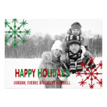 Happy Holiday's Photo Card Custom Announcement