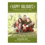 Happy Holidays Photo Card | Joy Love Peace Wishes Custom Invites