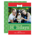 Happy Holidays Photo Card | Puppy Dog Theme 13 Cm X 18 Cm Invitation Card