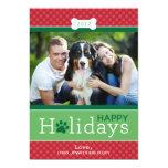 Happy Holidays Photo Card | Puppy Dog Theme 13 Cm X 18 Cm Invitation Card