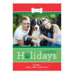 Happy Holidays Photo Card | Puppy Dog Theme Custom Announcements