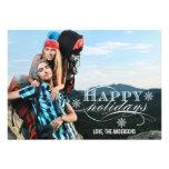 HAPPY HOLIDAYS PHOTO FLAT CARD