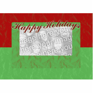 Happy Holidays Photo Frame Standing Photo Sculpture