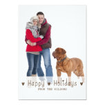 HAPPY HOLIDAYS PHOTO HOLIDAY CARD   BROWN PERSONALIZED INVITATION