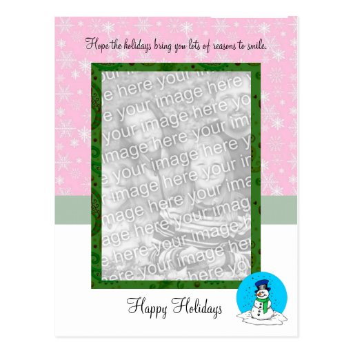 Happy Holidays Photo Post Card Template
