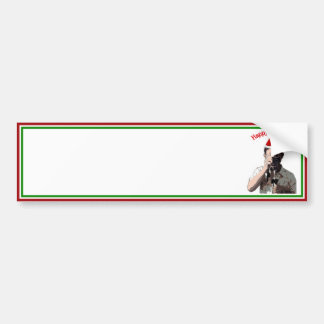 Happy Holidays Photographer With Santa Hat Bumper Stickers