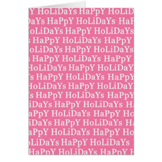 Happy Holidays Pink Christmas Greeting Card 2