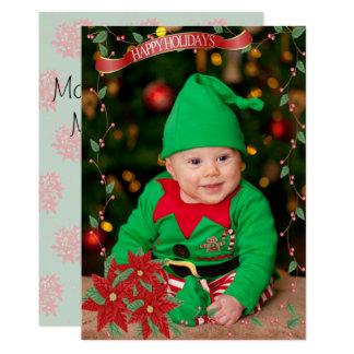 Happy Holidays Poinsettia Card