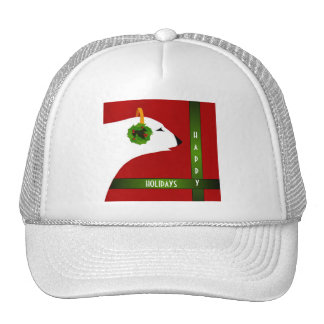 Happy Holidays Polar Bear Trucker Hat