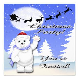 Happy Holidays Polar Bear Invitations
