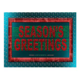 """Happy Holidays!"" Postcard"