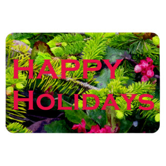 Happy Holidays Rectangle Magnets